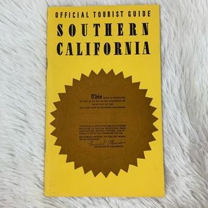Vintage 30s Southern California Tourist Guide Book